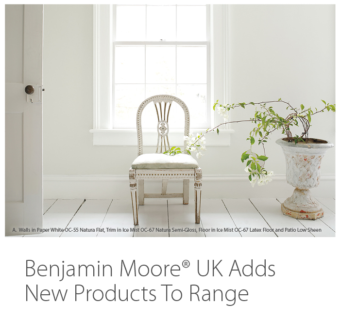 press release benjamin moore uk adds new products to range. Black Bedroom Furniture Sets. Home Design Ideas