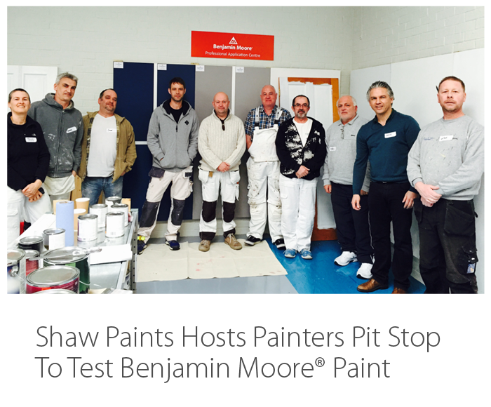 Press Release Shaw Paints Hosts Painters Pit Stop To Test